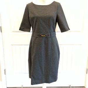 Banana Republic Charcoal Dress w/Sleeves & Belt-14